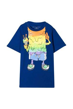 T-shirt blu con stampa colorata Stella McCartney Kids STELLA MCCARTNEY KIDS | 8 | 588484SOJG24100
