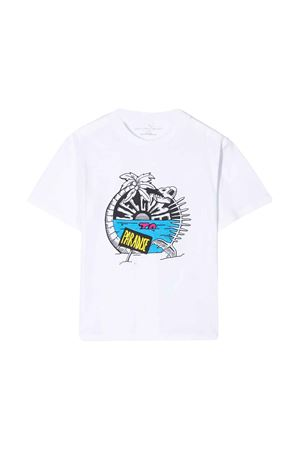T-shirt teen bianca con stampa frontale Stella McCartney kids STELLA MCCARTNEY KIDS | 8 | 588492SOJB69082T