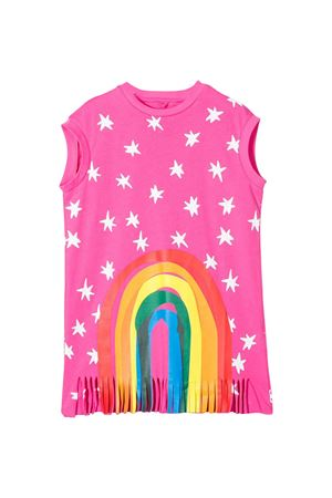 Pink dress with multicolor press Stella McCartney kids STELLA MCCARTNEY KIDS | 11 | 588660SOJ615563