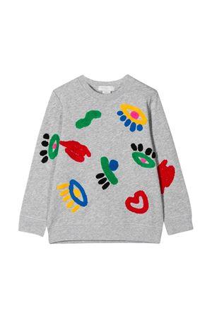 Felpa grigia con stampa multicolor Stella McCartney kids STELLA MCCARTNEY KIDS | -108764232 | 588675SOJ201461