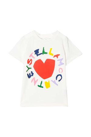 White t-shirt with multicolor press Stella McCartney kids STELLA MCCARTNEY KIDS | 8 | 588684SOJ709232