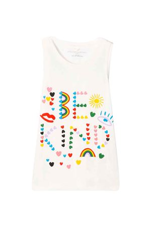 T-shirt bianca teen con stampa multicolor Stella McCartney Kids STELLA MCCARTNEY KIDS | 40 | 588699SOJ559232T