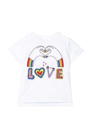 White t-shirt with multicolor press Stella McCartney kids STELLA MCCARTNEY KIDS | 8 | 588700SOJ069232