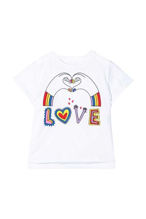 White teen t-shirt with multicolor press Stella McCartney kids STELLA MCCARTNEY KIDS | 8 | 588700SOJ069232T