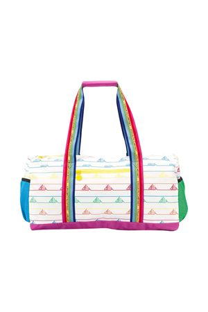 White striped bag with multicolor press Stella McCartney kids STELLA MCCARTNEY KIDS | 31 | 592927SOD259096