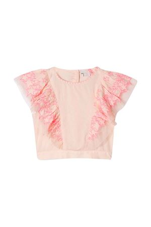 Peony top with pleated details Stella McCartney kids STELLA MCCARTNEY KIDS | 40 | 596568SOKF45769