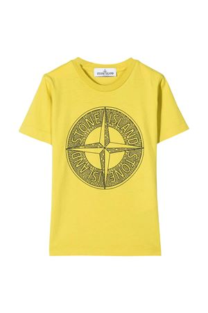 Yellow t-shirt with frontal press Stone Island junior STONE ISLAND JUNIOR | 8 | 721621059V0038
