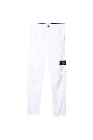 White pants Stone Island Junior teen STONE ISLAND JUNIOR | 9 | 721630311V0001T
