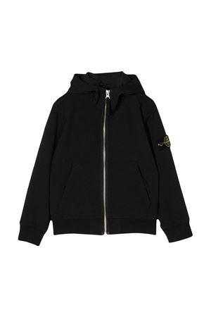 Black teen lightweight jacket with hood and zip Stone Island junior STONE ISLAND JUNIOR | 13 | 721640734V0029T