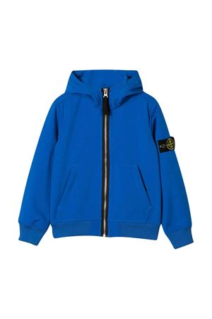 Blue jacket with frontal zip and hood Stone Island Junior STONE ISLAND JUNIOR | 13 | 721640734V0043