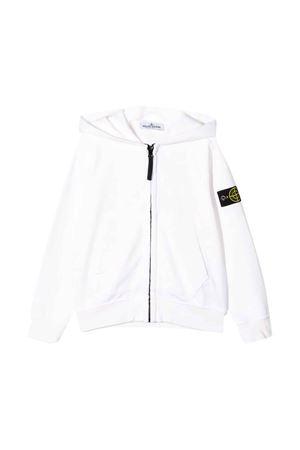 White teen sweatshirt with zip Stone Island Junior STONE ISLAND JUNIOR | -108764232 | 721660940V0001T