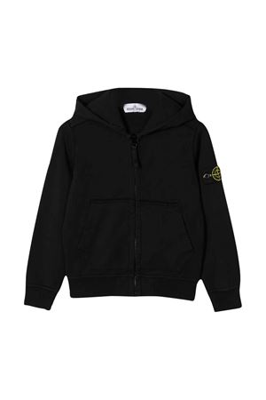 Black sweatshirt Stone Island junior teen  STONE ISLAND JUNIOR | -108764232 | 721660940V0029T