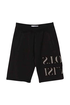 Black shorts with side logo Stone Island junior STONE ISLAND JUNIOR | 30 | 721661240V0029