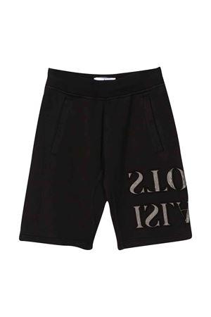 Shorts neri teen con logo Stone island junior STONE ISLAND JUNIOR   30   721661240V0029T