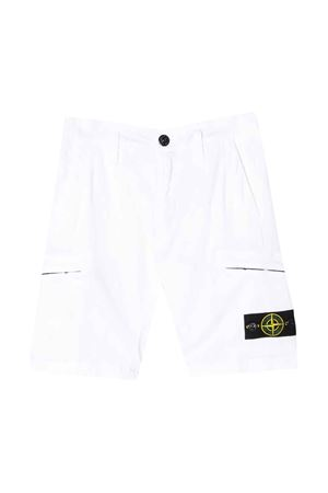 White shorts with frontal logo Stone Island junior STONE ISLAND JUNIOR | 30 | 7216L0512V0001