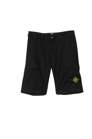 Shorts neri teen con logo Stone Island junior STONE ISLAND JUNIOR   5   7216L0512V0020T