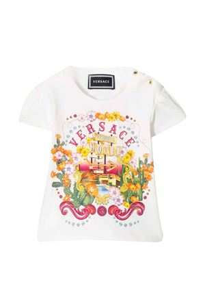 White t-shirt with multicolor press Young Versace YOUNG VERSACE | 8 | YA000152YA00019A1002