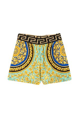 Shorts with multicolor baroque press Young Versace YOUNG VERSACE | 5 | YB000132A232778A7480