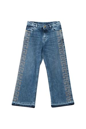 Blue jeans with rear logo Young Versace YOUNG VERSACE | 9 | YC000185A233589A8378