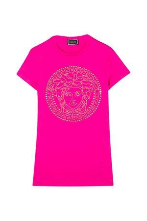 Teen fuchsia dress with frontal  logo Young Versace YOUNG VERSACE | 11 | YC000239YA00079A1708T