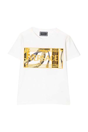 White teen t-shirt with frontal press Young Versace YOUNG VERSACE | 8 | YC000277YA00079A1002T