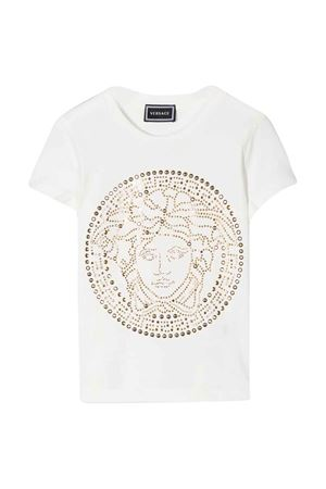 White t-shirt with frontal press Young Versace YOUNG VERSACE | 8 | YC000278YA00019A1002