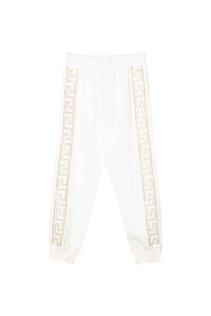 White trousers with logo Young Versace YOUNG VERSACE | 9 | YC000287YA00078A1002