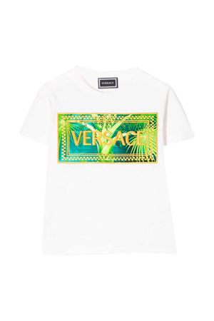 T-shirt bianca con stampa multicolor Young Versace YOUNG VERSACE | 8 | YC000392YA00079A1002