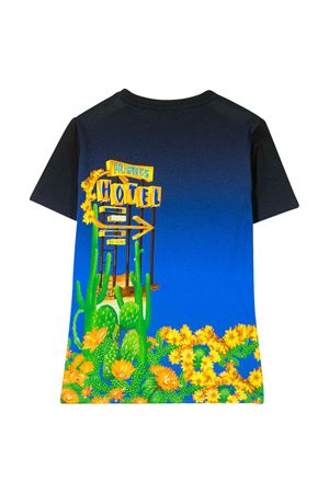 T-shirt blu con stampa multicolor Young Versace YOUNG VERSACE | 8 | YD000169A232866A7388
