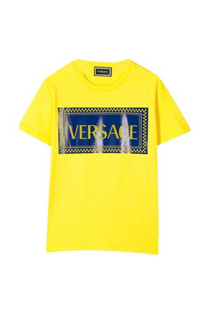 Yellow t-shirt with frontal press Young Versace YOUNG VERSACE | 8 | YD000180YA00079A7837