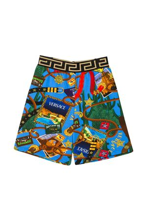 Blue teen bermuda shorts Young Versace YOUNG VERSACE | 5 | YD000184A232761A7000T