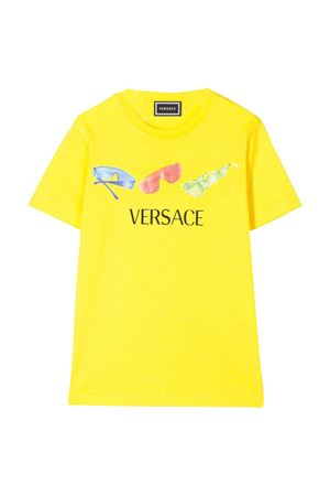 Yellow teen t-shirt with frontal print Young Versace YOUNG VERSACE | 8 | YD000201YA00079A1018T