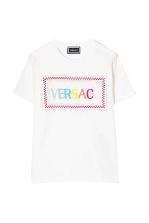 T-shirt bianca con stampa logo Young Versace YOUNG VERSACE | 8 | YD000206YA00079A2258