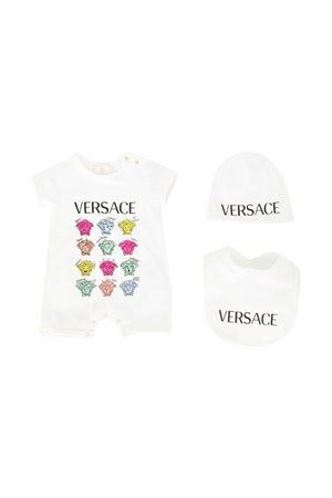 Three-pieces white set with multicolor press Young Versace YOUNG VERSACE | 75988882 | YE000153YA00019A1002