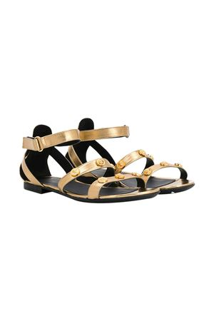 Metallic effect teen sandals with studs Young Versace YOUNG VERSACE | 5032315 | YHF00032YB00035YSZZT