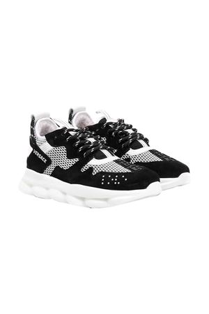 Black and white sneakers Young Versace YOUNG VERSACE   12   YHX00002YB00263YS82