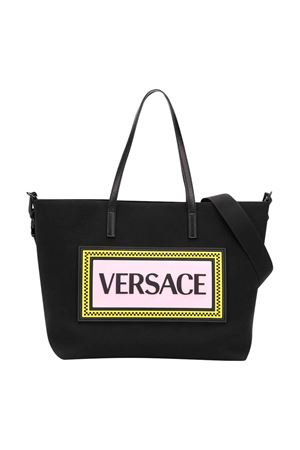 Black changing bag with frontal logo Young Versace YOUNG VERSACE | 31 | YL000004YB00280YS95
