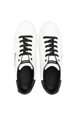 Portofino white sneakers teen Dolce & Gabbana Kids Dolce & Gabbana kids | 90000020 | D10806AB271HWF57T