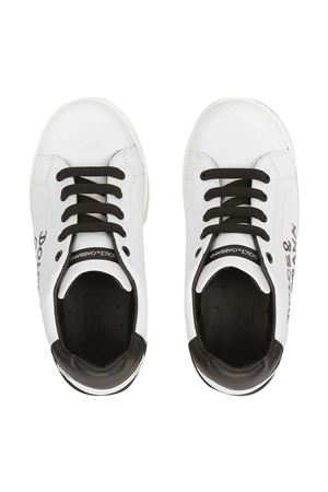 Sneakers bianche teen Portofino Dolce & Gabbana Kids Dolce & Gabbana kids | 90000020 | D10806AB271HWF57T