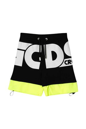 Gcds Kids black teen sports shorts GCDS KIDS | 30 | 027615110/28T