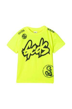 Gcds Kids yellow teen t-shirt  GCDS KIDS | 8 | 027636FL023T
