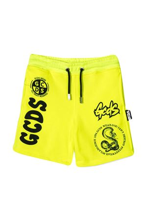Gcds Kids yellow shorts  GCDS KIDS | 30 | 027640FL023