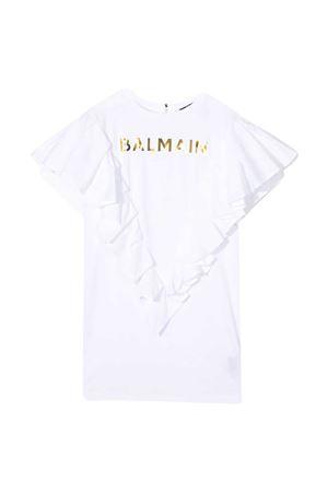 Vestito bianco Balmain kids BALMAIN KIDS | 11 | 6O1211OB690100
