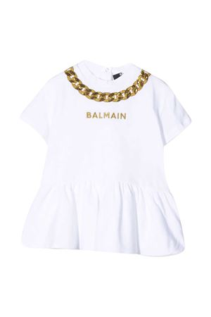 White T-shirt dress Balmain kids BALMAIN KIDS | 11 | 6O1881OB690100