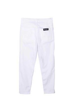 Pantaloni bianchi teen Balmain Kids BALMAIN KIDS | 9 | 6O6190OC120100AGT