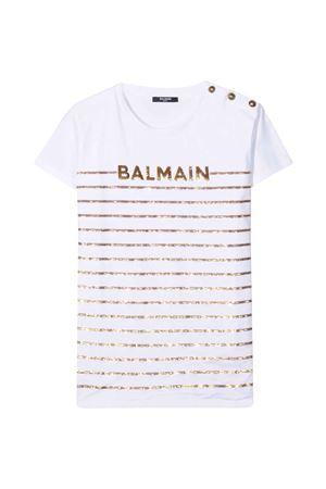 T-shirt bianca teen Balmain Kids BALMAIN KIDS | 8 | 6O8061OB690100T