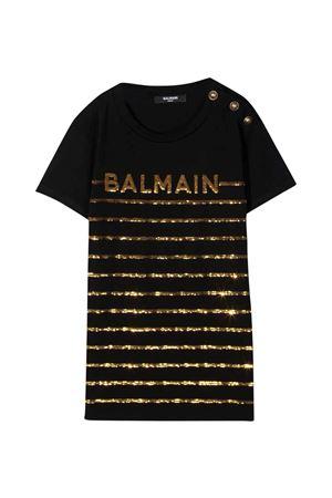 T-shirt nera Balmain Kids BALMAIN KIDS | 8 | 6O8061OB690930