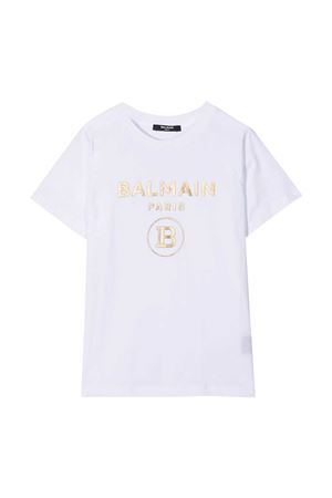 T-shirt bianca teen Balmain Kids BALMAIN KIDS | 8 | 6O8101OX390100ORT