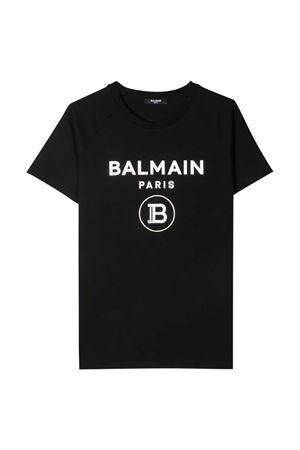 T-shirt nera Balmain Kids BALMAIN KIDS | 8 | 6O8101OX390930AG