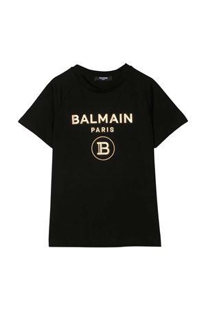 T-shirt nera teen Balmain Kids BALMAIN KIDS | 8 | 6O8101OX390930ORT